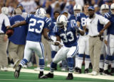(INDIANAPOLIS, Ind. - Shot 1/9/2005) The Indianapolis Colts' James Mungro (#23, RB) celebrates...