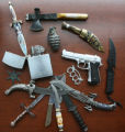 Pellet guns, daggers, hatchets, throwing knives and even oversized lighters are among the many...