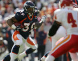 (JPM0342) Denver Broncos Kyle Johnson runs against the Kansas City Chiefs in at Invesco Field on...