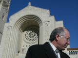 SH04K222SALAZAR Washington Nov. 14, 2004 - Sen.-Elect Ken Salazar, outside of the Basilica of the...