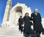 SH04K214SALAZAR Washington Nov. 14, 2004 - Sen.-Elect Ken Salazar and wife Hope Salazar leave...