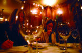 (DENVER, Co., SHOT 10/22/2004) Rioja co-owner Beth Gruitch tastes wine one evening with Jen Olson,...