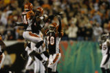 (Cincinnati, Ohio, October 25, 2004)  Game action in the second quarter of the Denver Broncos...