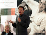 NYFF102 - Producer Mark Burnett gestures while speaking at a news conference to announce a...