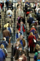 (Denver, Colo., November 24, 2004) Airline travelers go through the security lines at DIA on...