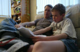 Matt Ten Eyck and his father, Ron, at their home in Littleton, Colo., on Monday, May 24, 2004. ...