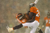 (DENVER, CO., NOVEMBER 28, 2004)  Denver Broncos #31, Kelly Herndon, left, and #24, Champ Bailey,...