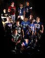 Denver, Colo., photo taken December 13, 2004- Football players for Rocky best offense of the year....