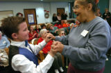 (12/14/04,Denver, CO) Samuels Elementary School Singers entertained people that have had strokes...
