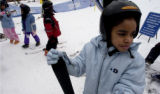 (Denver, Colo., 12/10/2004) Roberto Moreno, who runs a ski program for inner-city children brought...
