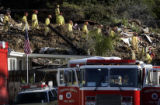 La Conchita 1/11/05:  Rescue workers prepare to leave the scene of the landslide in La Conchita at...
