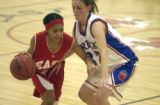 Denver, Colo.-December 2,2004- High school girls basketball between Cherry Creek and Denver East...