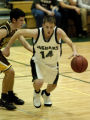 (Littleton, Colo., December, 2004)  Joel Anderson, of D'Evelyn High School, brings the ball up the...
