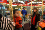 (LAKEWOOD, CO. DECEMBER 20, 2004) Kimra Perkins Colorado Mills General Manager, rides the malls...