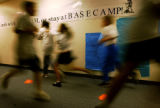 (DENVER, Colo., Jan. 10, 2005) KIPP Sunshine Peak Academy students run in the hallway during  gym...