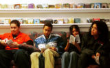 (DENVER, Colo., Jan. 10, 2005) KIPP Sunshine Peak Academy, 7th graders, (left to right) Isaiah...