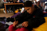 (DENVER, Colo., Jan. 10, 2005) KIPP Sunshine Peak Academy, 7th grader, Kortni Mora (cq)works...