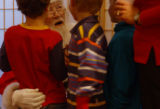 (ENGLEWOOD, Colo., December 4, 2004) Santa listens to the kids with rapt enthusiasm as they come...
