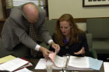 (DENVER, Colo., November 16, 2004) Lon Engelking legislative council, works on details of a lesson...