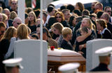 (BRIGHTON, Co., SHOT 11/8/2004) Funeral services for Andrew Riedel, a 19 year old Marine killed in...