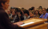 (11/08/04, Denver, CO)  A large meeting took place in the University of Denver's Driscoll Student...