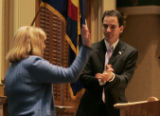 (Shot in Denver on Weds., Jan. 12, 2005) Newly-elected Speaker of the Colorado House of...