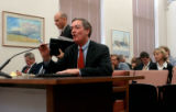 (DENVER, CO. NOVEMBER 9, 2004) (FOREGROUND.) Governor Bill Owens presentED his proposed FY 2005-06...