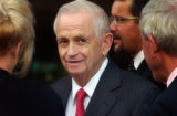 Denver, Colo. 6/8/04-  J. W. Marriott CEO Bill Marriott is surrounded by friends  during the grand...
