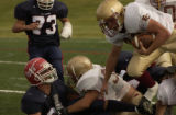 [Cherry Hills Village, CO - Shot on: 9/24/04]  Faith Christian boys football at Kent Denver...