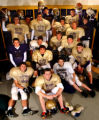 Broomfield, Colo., photo taken November 23, 2004- The Holy Family High School football team is...