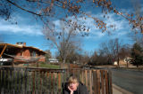(11/04, Boulder, CO)  Cathy Rich, who is deaf and blind and suffers from Cerebral Palsy, seems to...