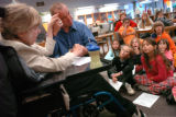 (11/04, Boulder, CO)  Cathy Rich, who is deaf and blind and suffers from Cerebral Palsy, went to...