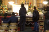 [Montbello, CO - Shot on: 1/12/05] Mourners says goodbye to Contrell Townsend at the Now Faith...