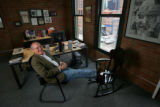 "EJ626 Profile of attorney Frank Schuchat (Cq) for ""In My Office"".  His feet are resting..."