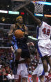 Denver Nuggets forward Carmelo Anthony drives to the basket in the third quarter of play against...