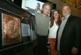 (Denver, Colo., April 22, 2006) Charles and Maria Wooldridge with Steven Chotin.  Chotin...