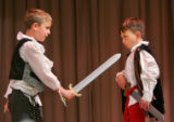 EJ558   This year's annual DPS Shakespeare Festival participants from Southmoor Elementary. (ELLEN...