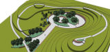 Aerial views of the proposed permanent Columbine Memorial.
