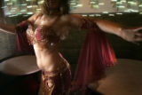 Belly dancer Sadie Marquardt performs at Mataam Fez in Denver, Colorado. (JUDY DEHAAS/ROCKY...