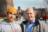(NYT31) KNOXVILLE, Tenn. -- April 11, 2006 -- GENE-TESTS  -- Alan Moldawar with his adopted son,...