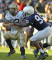 John Beale/Pittsburgh Post-Gazette University Park  October 29, 2005 Penn State's Tamba Hali...