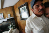 The father of Alejandra cries with pride as he talks about his daughter , Alejandra, right, while...