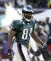 NY298 - Philadelphia Eagles wide receiver Freddie Mitchell appears on the field in the second...