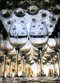 EJ659   Wineglasses from the Chef's Showcase Dinner at the Ritz-Carlton in Bachelor Gulch for the...