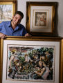 FOR SPOTLIGHT Alexandre Renoir (cq) poses in Cherry Creek's Gallery M holding his artwork, a...