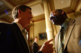 (DENVER, CO. MARCH 17, 2005) (FROEGROUND LT. TO RT.) Colorado Governor Bill Owens, and SENATOR...