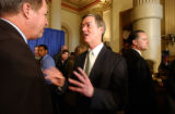 (DENVER, CO. MARCH 17, 2005) (LT. TO RT.) Colorado State Representative Bill Berens (R-HD33)...