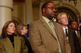 (DENVER, CO. MARCH 17, 2005) (FOREGROUND LT. TO RT.) Colorado Democratic Majority Leader Alice...