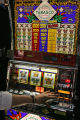 A patron plays a slot machines at the Ameristar Casino, 111 Richman St., Monday afternoon May 8,...
