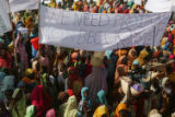 (NYT17) KALMA CAMP, Sudan -- May 8, 2006 -- SUDAN-DARFUR-2 -- Demonstrators demand that a United...